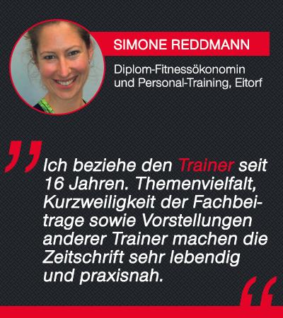 Trainer-Magazin Testimonial Simone Reddmann