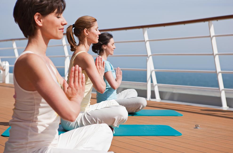 Umfangreiches Kursangebot und viele Möglichkeiten für Relax und Mediatation AIDA CRUISES