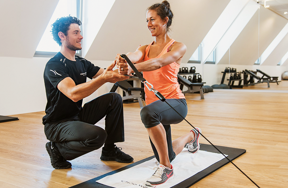 Alle Physiotherapeuten sind auch als Personal Trainer
