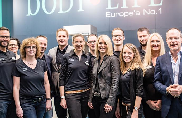 Trainer und body LIFE auf der FIBO 2017