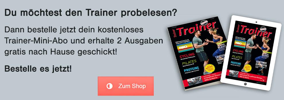 Trainer-Magazin kostenloses Probeabo für Personal Trainer