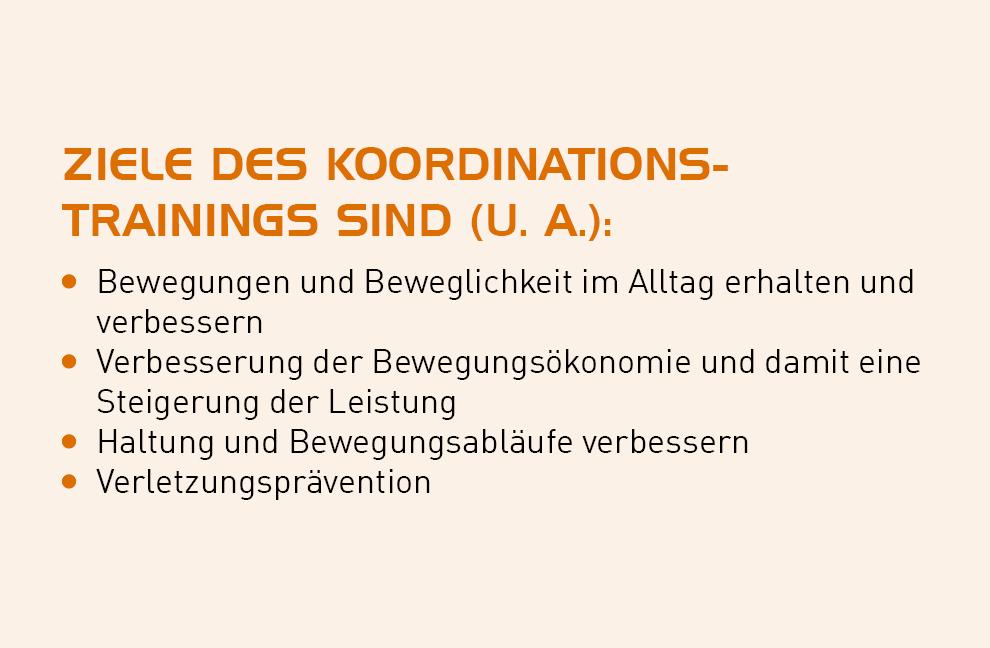 Ziele des Koordinationstrainings sind